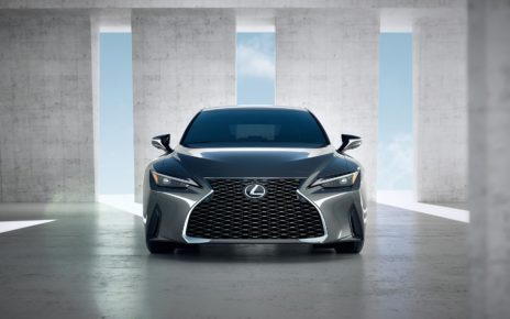 Presented stylish sedan Lexus IS with an outdated interior